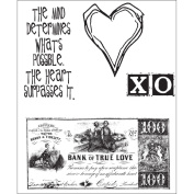Stampers Anonymous CMS-6 Tim Holtz Cling Rubber Stamp Set-From The Heart