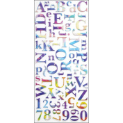 Sticko Alphabet Stickers, Watercolour