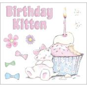 Strawberry Kisses EZMount Cling Stamp Set 12cm x 12cm -Birthday Kitten