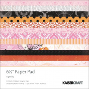 Kaisercraft Tigerlilly Paper Pad, 17cm by 17cm , 40 Sheets