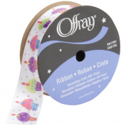 Offray 125577-8-1 Fun Cupcakes Ribbon 7-8 in. 9 Feet-Multi