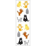 Mrs Grossman MG199-58173 Mrs. Grossmans Stickers-Playful Cats