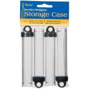 Darice 2025-300 Plastic Storage Tubes 4 in. x 3-4 in. 4-Pkg