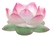 Clear Lotus Votive Holder Collectible Figurine