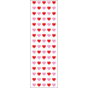Mrs. Grossman's Stickers-Micro Red & Pink Hearts