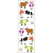 Mrs. Grossman's Stickers-Chubby Cows