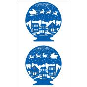 Mrs Grossman MG199-15955 Mrs. Grossmans Stickers-Christmas Snow Globe