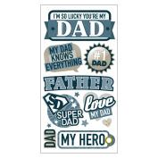 Essentials Dimensional Stickers-My Beloved Dad
