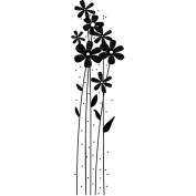 Magenta Cling Stamps, Tall Solid Flowers