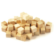 Multicraft Imports CW300 Craftwood 5-20cm Wooden Cubes 49-Pkg-Natural