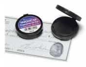 Baumgartens Fingerprint Ink Pad, 4.8cm x 4.8cm x 1.3cm , Black/Black Ink
