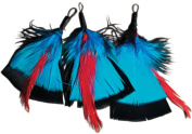 Natural Feather Picks 3/Pkg-7.6cm Black/Turquoise/Red