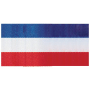 Offray 294351 Tri-Stripe Ribbon .63 in. 3 Yards-Red White& Blue