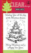 Hero Arts 129260 Hero Arts Clear Stamps 4 in. x 6 in. Sheet-Joy Of The Christmas Season
