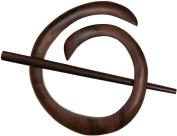 Paradise Exotic Shawl Pin SP40801 Spiral Shawl Pin-Tiger Ebony