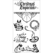 Hampton Art Graphic 45 Christmas Emporium Cling Stamps 4.5'X4.5' 1
