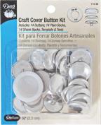 Dritz 114-36 Craft Cover Button Kits-Size 36 14-Pkg