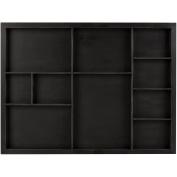 Shadow Box Tray 30cm x 41cm -Black, Holds Assorted Size Photos