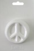 Soapsations Soap Mould, Round Peace Sign, 6.4cm x 6.4cm