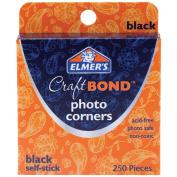 Elmer's Photo Corners 250/Pkg-Black Self-Stick