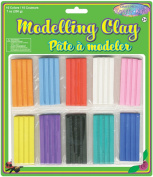 American Classics Corp 491962 Modeling Clay 200 Grams-Pkg-10 Colors