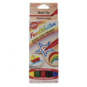 Food Writer Bold Tip Edible Colour Markers .1040ml 5/Pkg-Primary
