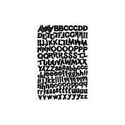 Alphabet Cardstock Sticker Sheet-Funky/Black