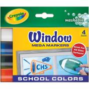. Washable Window Mega Markers-School Colors