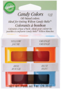Candy Colours .740ml 4/Pkg-Yellow, Orange, Red & Blue