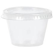 Amscan 356002 Gelatin Plastic Shot Glass W/Lid 2.5 Ounces 40/Pkg