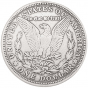 Leather Factory 389639 Morgan Dollar Eagle Concho-Sterling Silver 1.38 in.