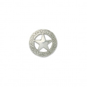 Silver Finish Concho 2.9cm Screwback-Texas Star