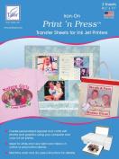 June Tailor Print 'n Press Iron-On Transfer Paper, 22cm x 28cm , 3/pkg