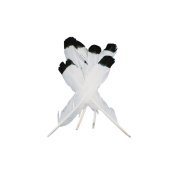 Midwest Design 273652 Simulated Eagle Feathers 4-Pkg-White With Black Tip