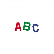 Perler Fun Fusion Bead Pegboard, Alphabet, 16cm x 30cm