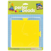 Perler Fun Fusion Bead Pegboards 14cm -by-5-1/2-Inch, 2-Pack, Square