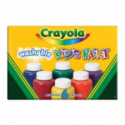 .   Washable Kid's Paint 60ml 6/Pkg-