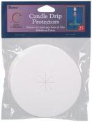 Darice 2025-160 Candle Drip Protectors 0.9m 25/Pkg
