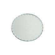 Darice Round Glass Mirror with Scallop Edge, 20cm