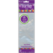 0.9m x 0m x 0.9m x 0m Clear Treat Bags, 50-Pack