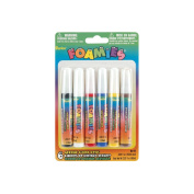 Foamies Acrylic Paint Pens .1010ml 6/Pkg-Primary Colours
