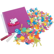 Foam Scrapbook Kit-Funky Flower