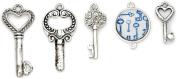 Blue Moon Beads BM17676 Blue Moon Tokens Metal Charms 5/Pkg