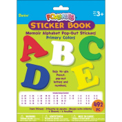 Foam Pop-Out Sticker Book 492/Pkg-Memoir Alphabet-Primary