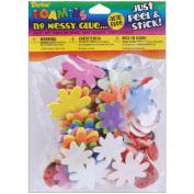 Foam Stickers 83/Pkg-Flower & Ladybug