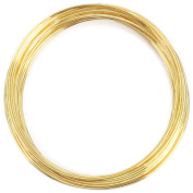 Memory Wire Bracelet .150ml/Pkg-Gold Plated/Approx 30 Loops