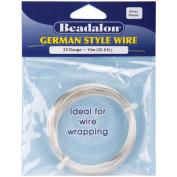 Beadalon 180B-022 German Style Round Wire 22 Gauge 32.8 Feet/Pkg