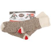Red Heel Monkey Socks 2pr/Pkg-Size 6-7 Small Brown Heather