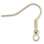 Blue Moon Value Pack Metal Findings, Earwire 1 Gold, 56/Pkg