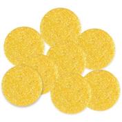 Jesse James BDOTS-97 Dress It Up Big Glitter Dots 19mm 8-Pkg-Yellow